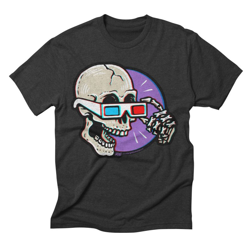 3D Glasses are Skull Cracking Fun Men's Triblend T-shirt by Brad Albright Illustration Shop