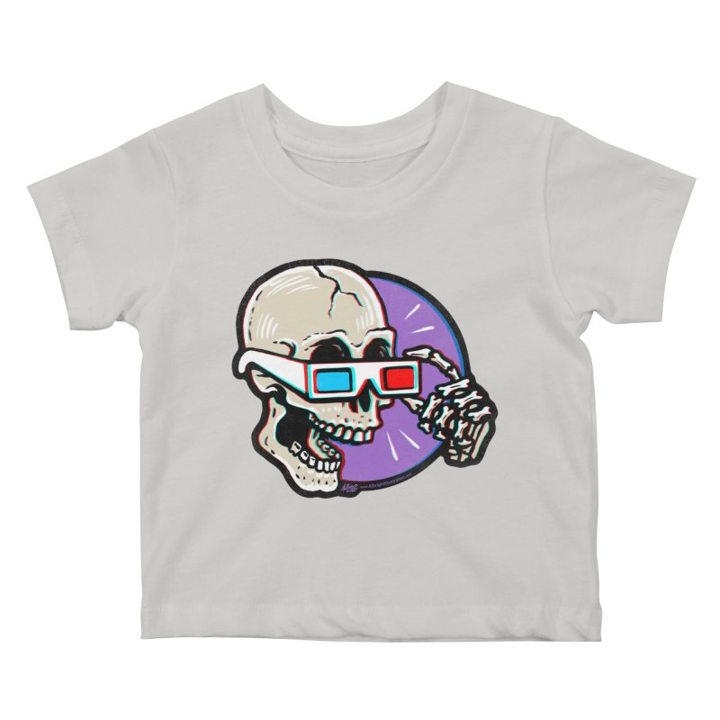 3D Glasses are Skull Cracking Fun Kids Baby T-Shirt by Brad Albright Illustration Shop