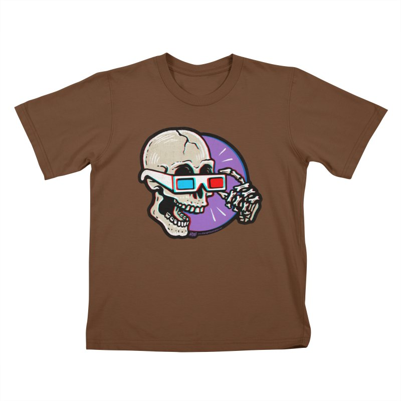 3D Glasses are Skull Cracking Fun Kids T-shirt by Brad Albright Illustration Shop