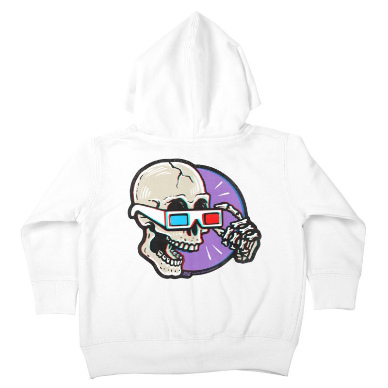 3D Glasses are Skull Cracking Fun Kids Toddler Zip-Up Hoody by Brad Albright Illustration Shop