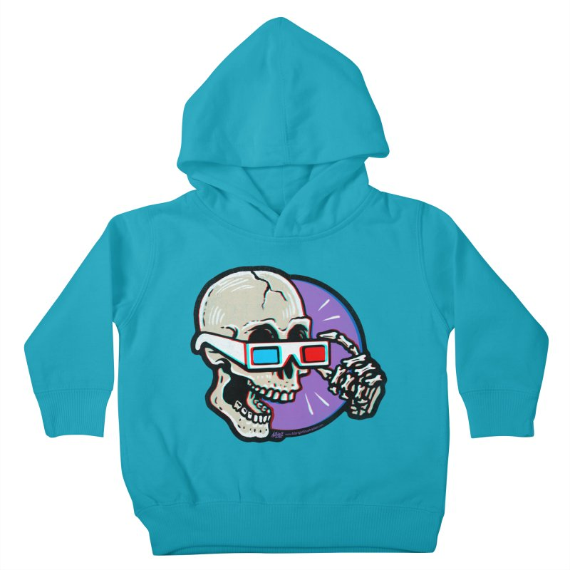 3D Glasses are Skull Cracking Fun Kids Toddler Pullover Hoody by Brad Albright Illustration Shop