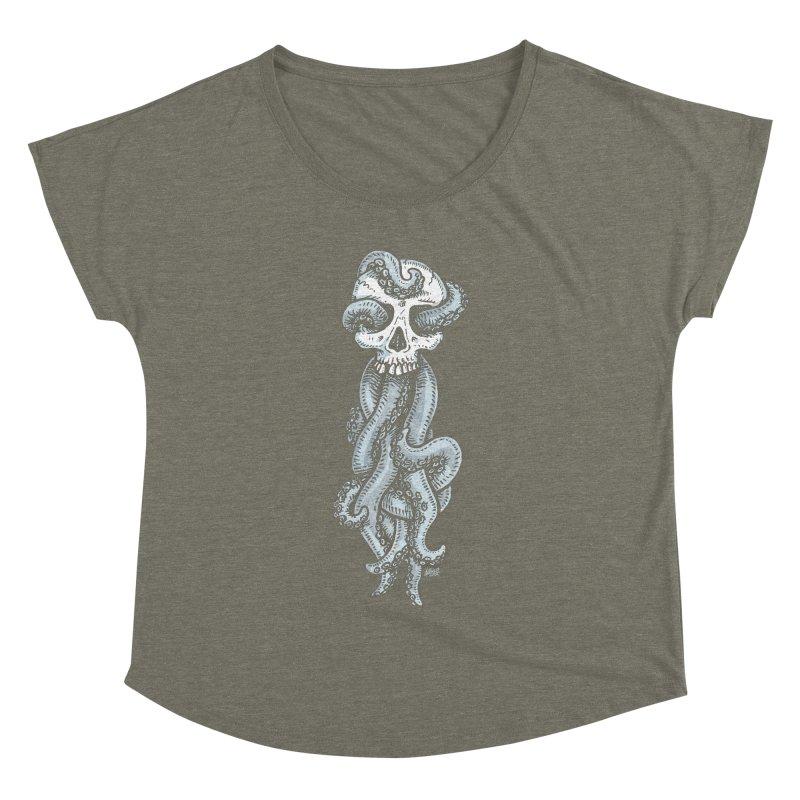 Tentaskull Women's Dolman by Brad Albright Illustration Shop