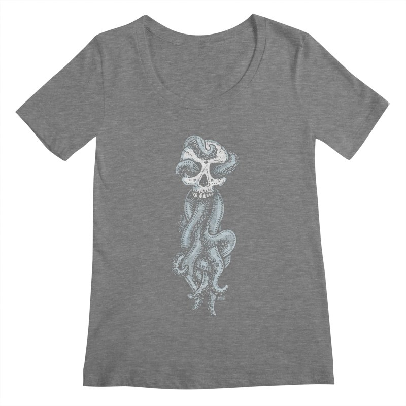 Tentaskull Women's Scoopneck by Brad Albright Illustration Shop