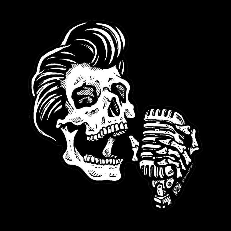 Rockabilly Greaser Skull None  by Brad Albright Illustration Shop