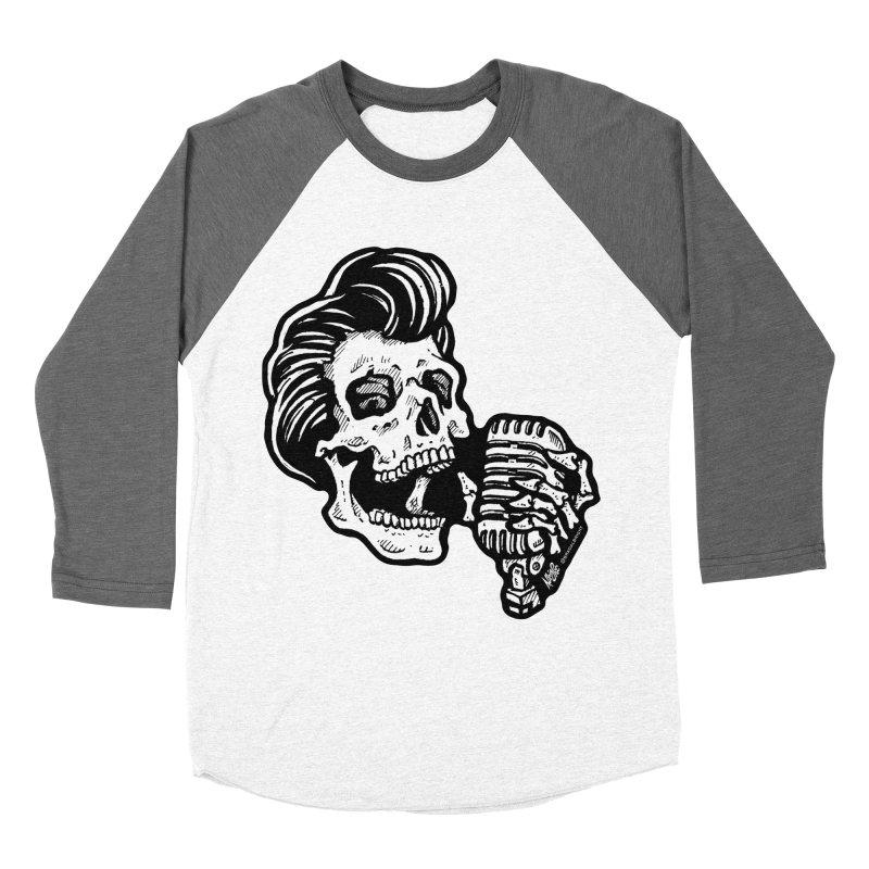 Rockabilly Greaser Skull Women's Longsleeve T-Shirt by Brad Albright Illustration Shop