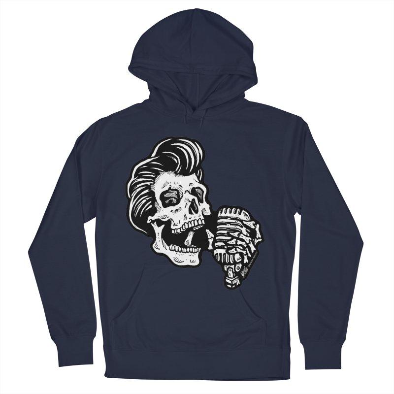 Rockabilly Greaser Skull Men's Pullover Hoody by Brad Albright Illustration Shop