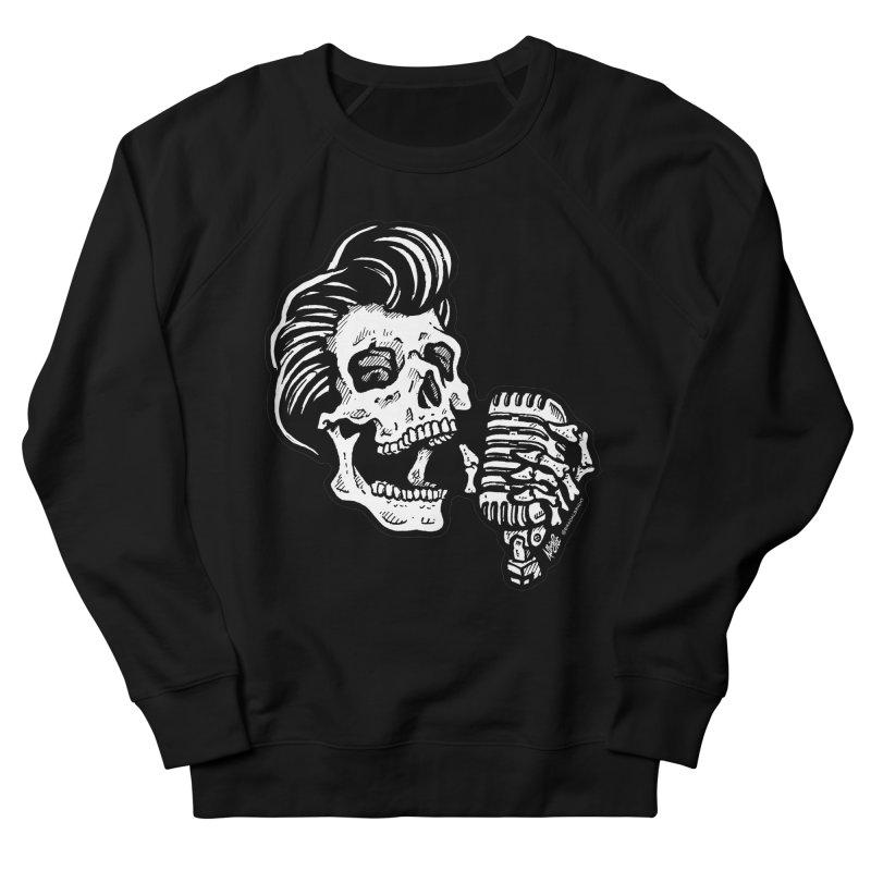 Rockabilly Greaser Skull Women's Sweatshirt by Brad Albright Illustration Shop