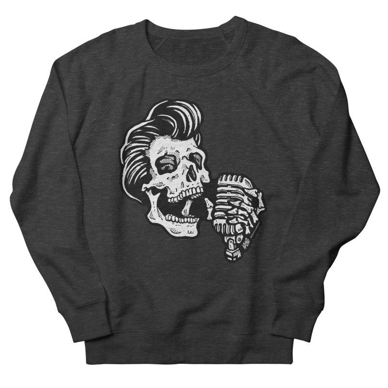 Rockabilly Greaser Skull Men's Sweatshirt by Brad Albright Illustration Shop