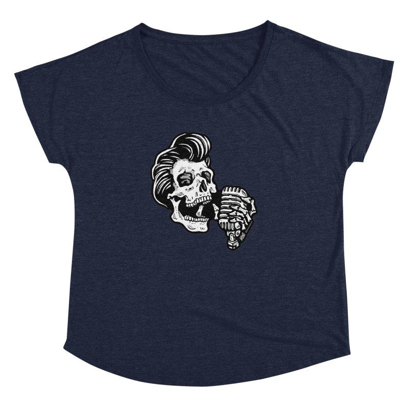 Rockabilly Greaser Skull Women's Dolman by Brad Albright Illustration Shop