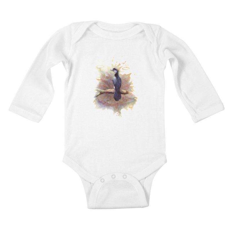 Pied Cormorant Kids Baby Longsleeve Bodysuit by BradGresham's Artist Shop