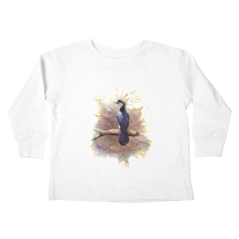 Pied Cormorant Kids Toddler Longsleeve T-Shirt by BradGresham's Artist Shop