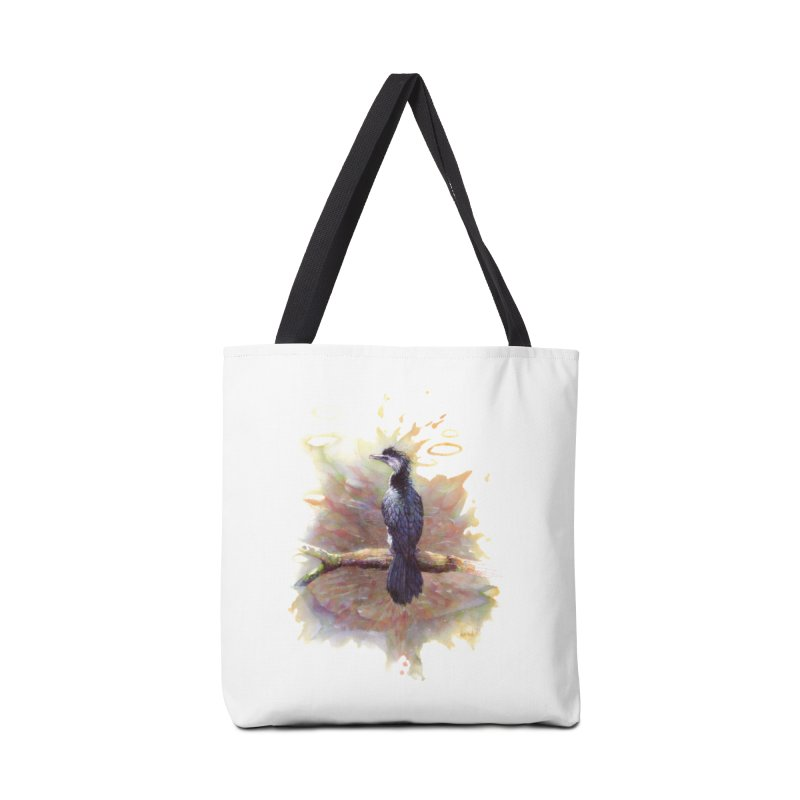 Pied Cormorant Accessories Bag by BradGresham's Artist Shop