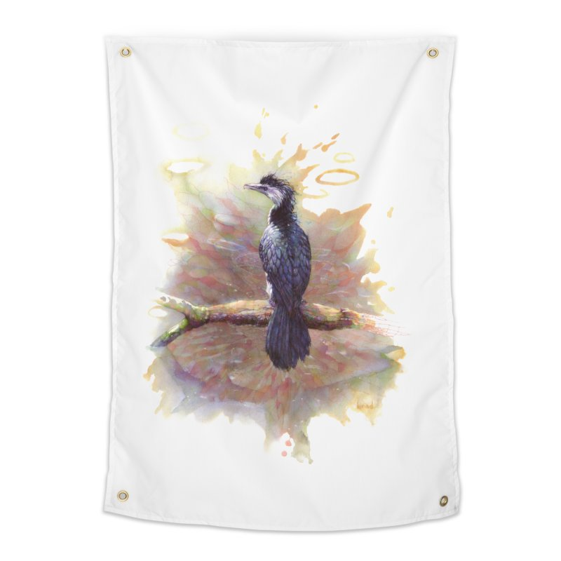 Pied Cormorant Home Tapestry by BradGresham's Artist Shop