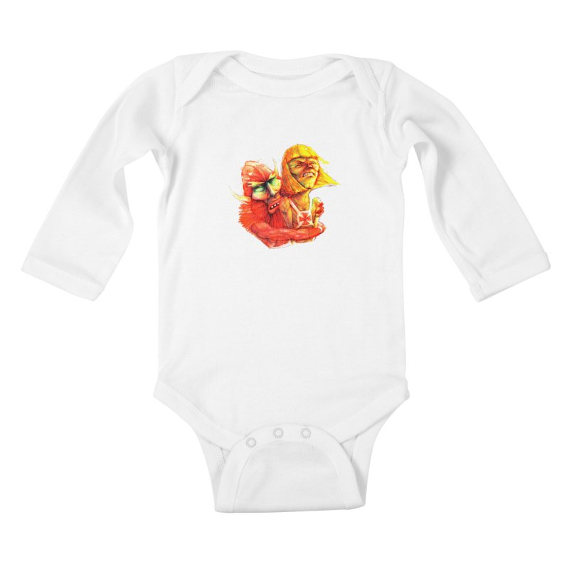 Hug It Out! Kids Baby Longsleeve Bodysuit by BradGresham's Artist Shop