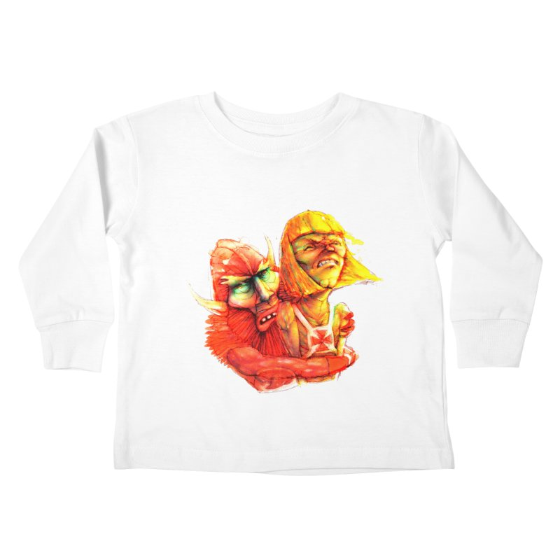 Hug It Out! Kids Toddler Longsleeve T-Shirt by BradGresham's Artist Shop