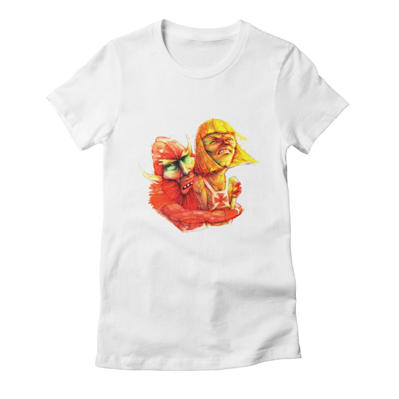 Hug It Out! Women's Fitted T-Shirt by BradGresham's Artist Shop