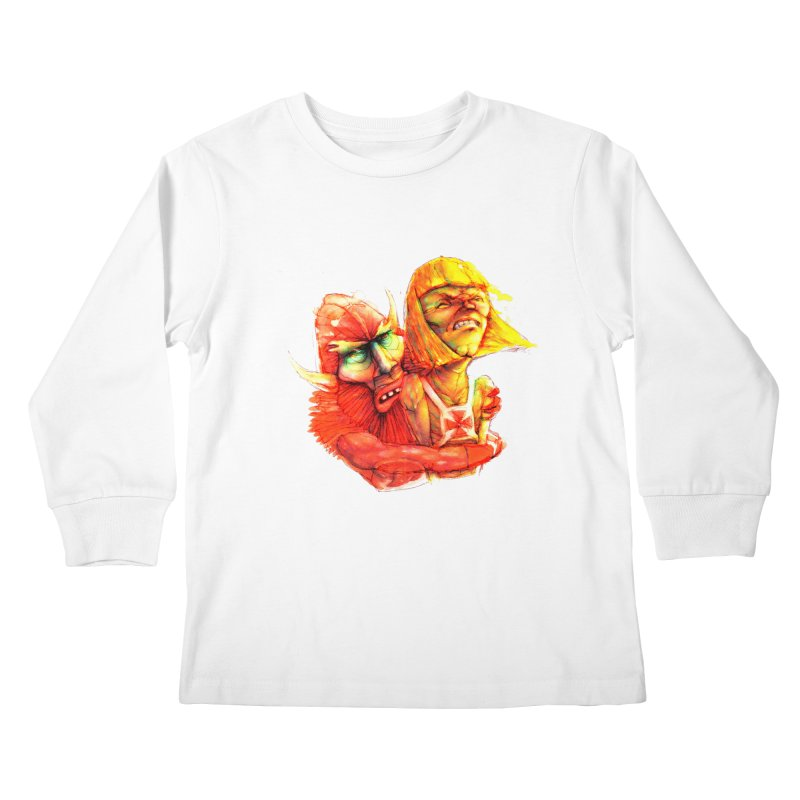 Hug It Out! Kids Longsleeve T-Shirt by BradGresham's Artist Shop