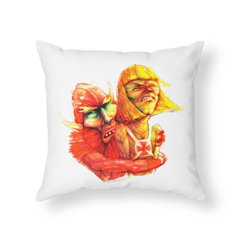 Hug It Out! Home Throw Pillow by BradGresham's Artist Shop