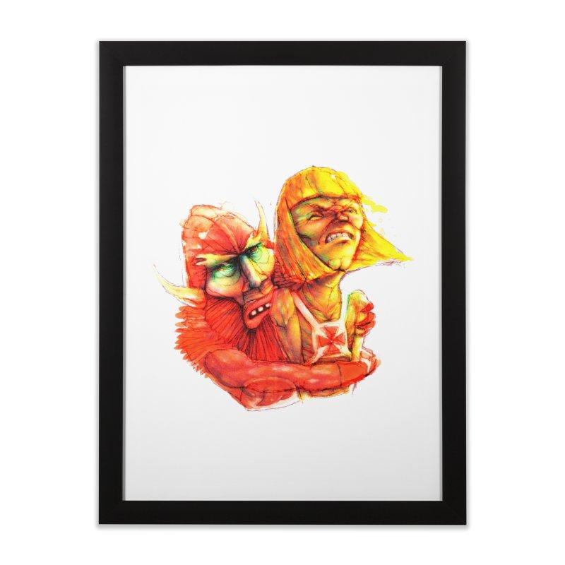 Hug It Out! Home Framed Fine Art Print by BradGresham's Artist Shop