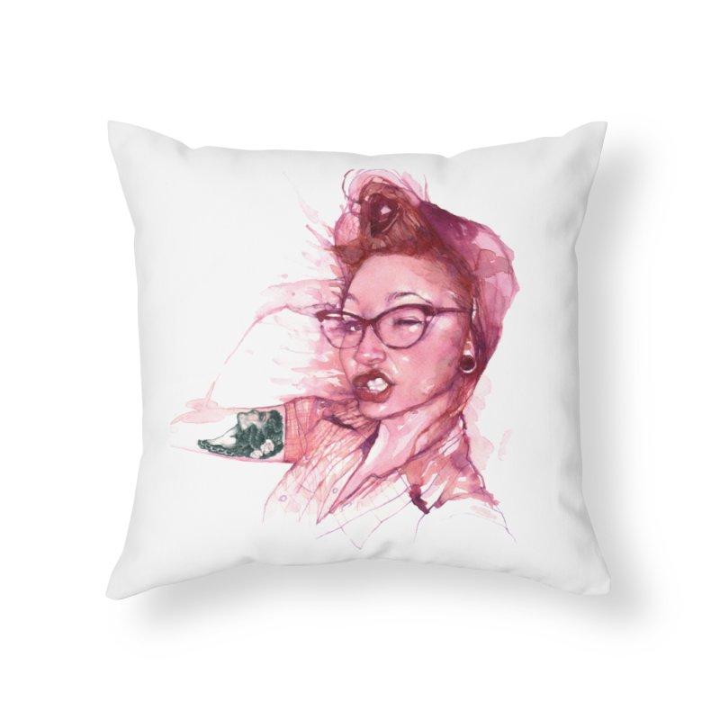 Gun Show Home Throw Pillow by BradGresham's Artist Shop