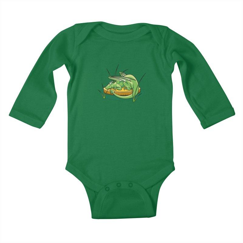 Draconis Minimis Kids Baby Longsleeve Bodysuit by BrainMatter's Artist Shop
