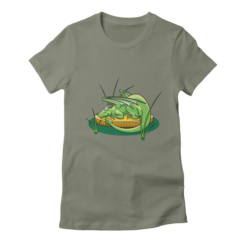 Draconis Minimis Women's Fitted T-Shirt by BrainMatter's Artist Shop