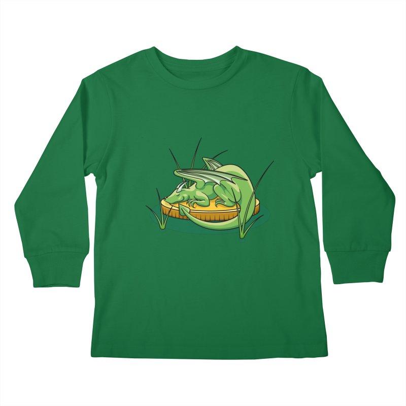 Draconis Minimis Kids Longsleeve T-Shirt by BrainMatter's Artist Shop