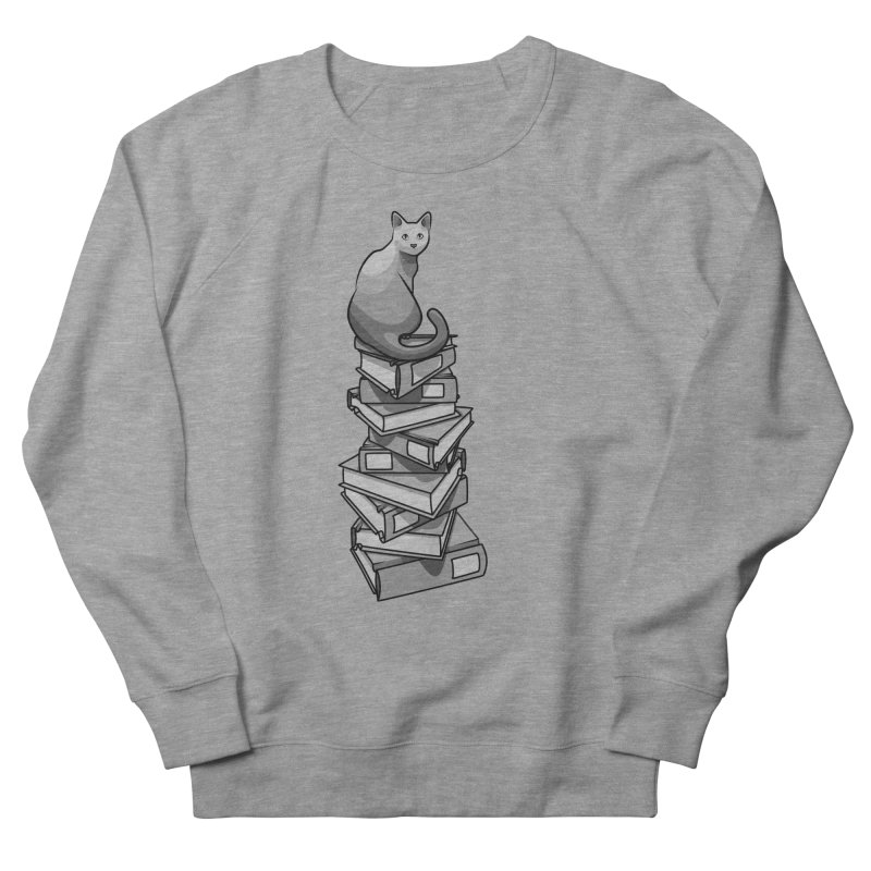 Puss & Books Men's Sweatshirt by BrainMatter's Artist Shop