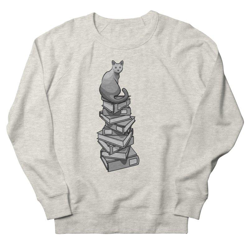 Puss & Books Men's Sweatshirt by BrainMatter's Artist Shop