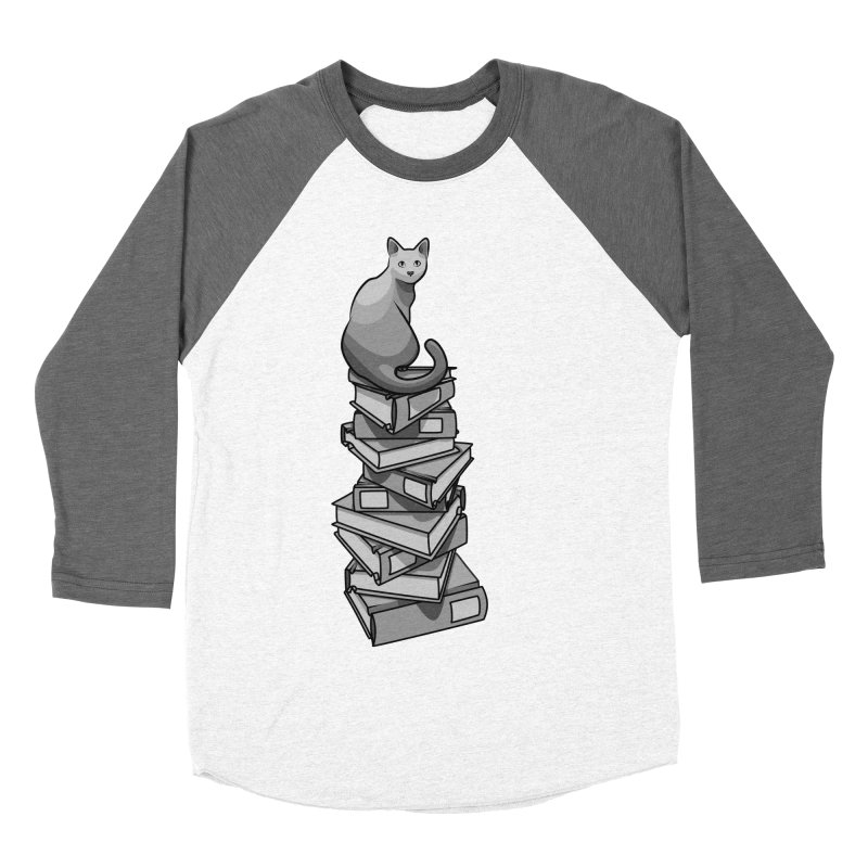 Puss & Books Men's Baseball Triblend T-Shirt by BrainMatter's Artist Shop