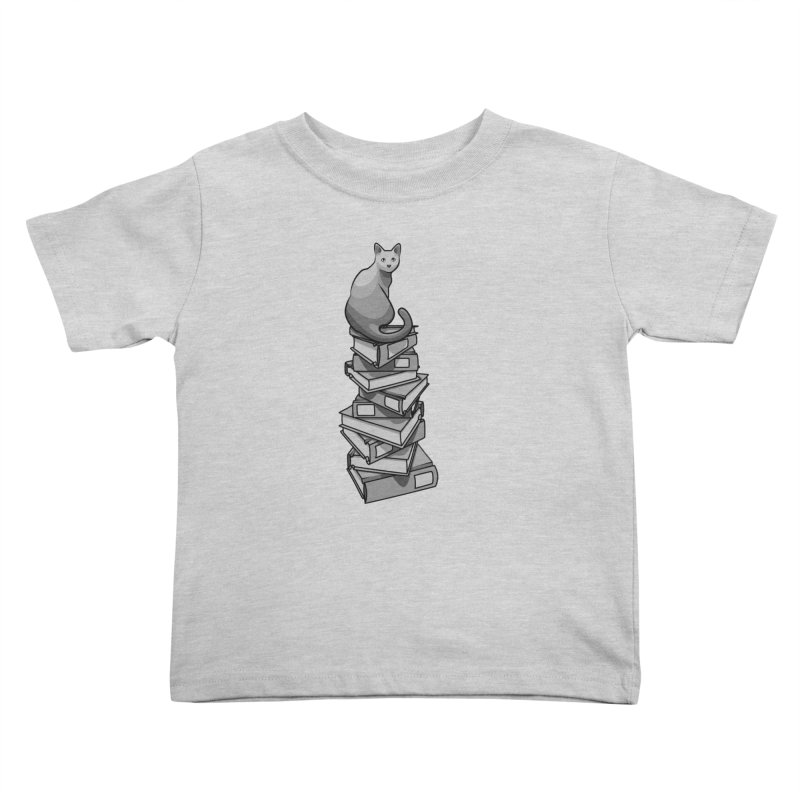 Puss & Books Kids Toddler T-Shirt by BrainMatter's Artist Shop