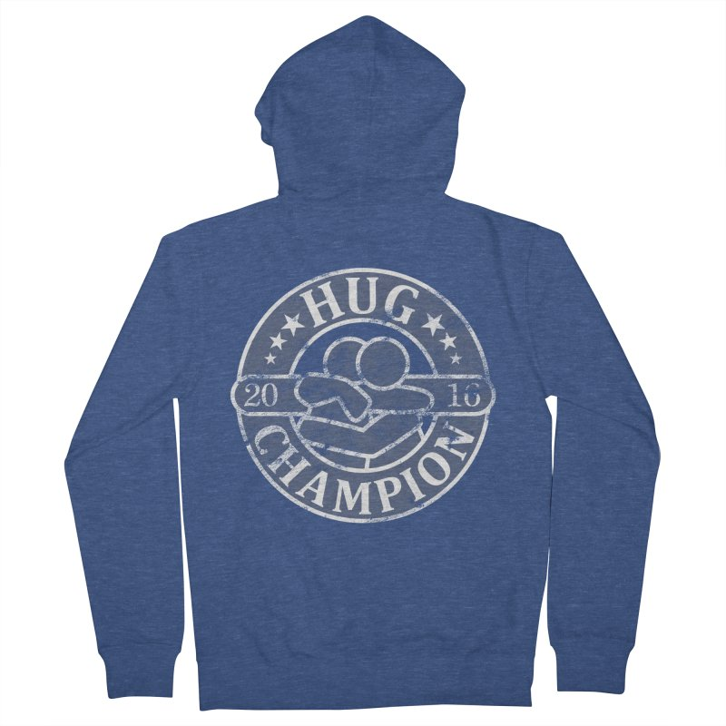 Hug Champion Men's French Terry Zip-Up Hoody by BrainMatter's Artist Shop