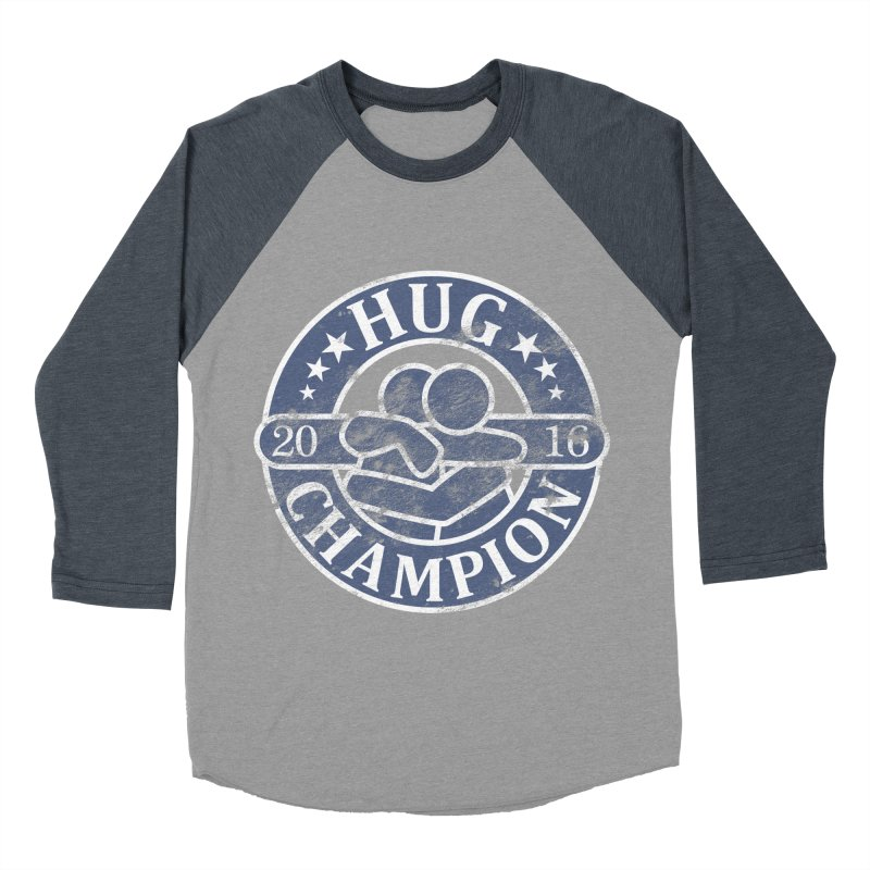 Hug Champion Men's Baseball Triblend T-Shirt by BrainMatter's Artist Shop