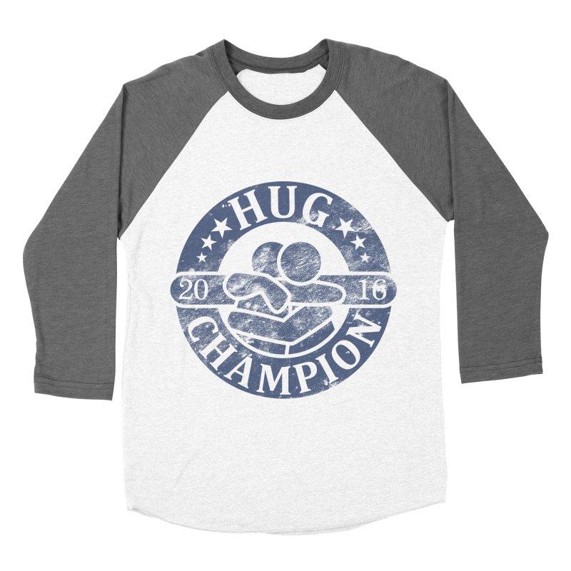 Hug Champion Men's Baseball Triblend T-Shirt by BrainMatter's Artist Shop