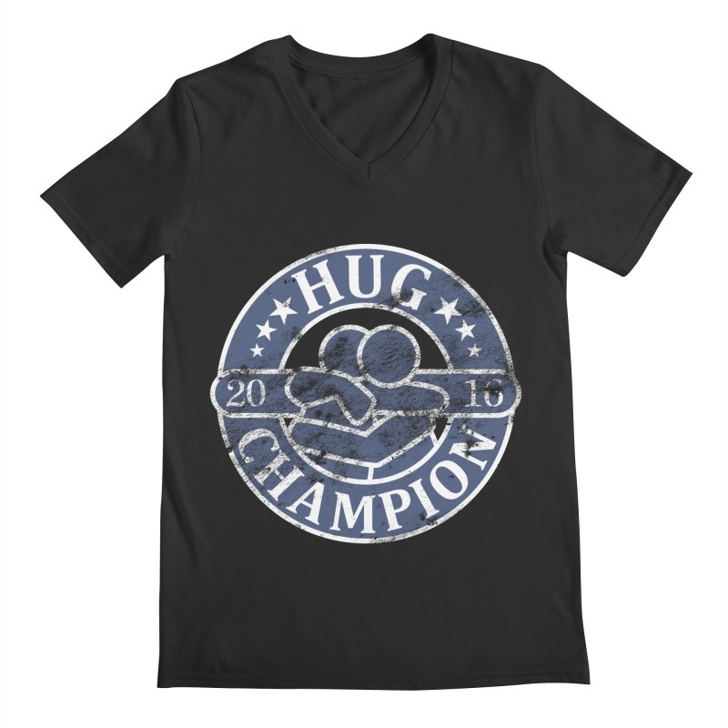 Hug Champion Men's V-Neck by BrainMatter's Artist Shop