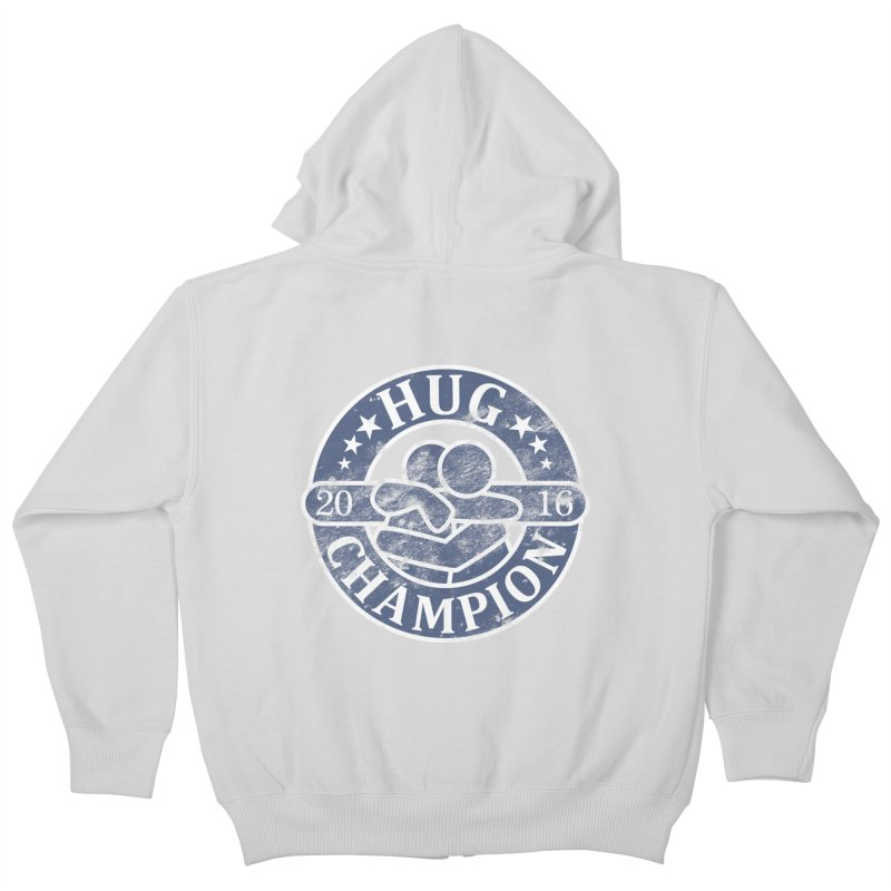 Hug Champion Kids Zip-Up Hoody by BrainMatter's Artist Shop