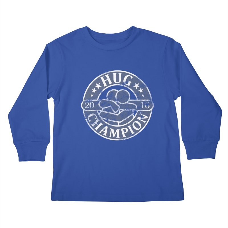 Hug Champion Kids Longsleeve T-Shirt by BrainMatter's Artist Shop