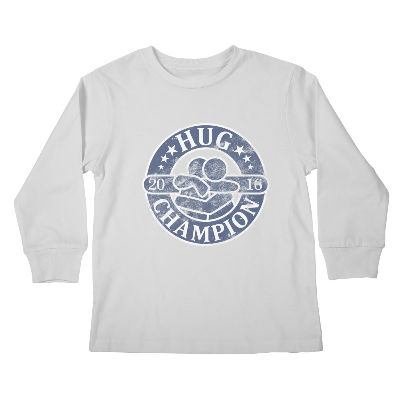 Hug Champion Kids Longsleeve T-Shirt by BrainMatter's Artist Shop