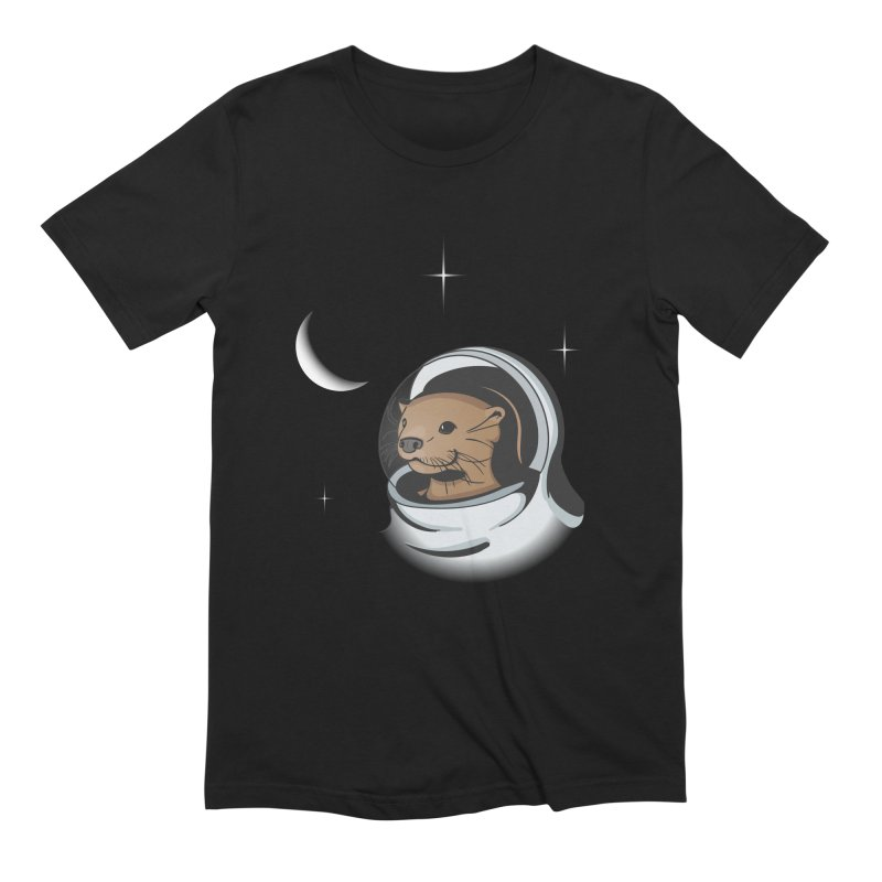Otter Space Men's Extra Soft T-Shirt by BrainMatter's Artist Shop