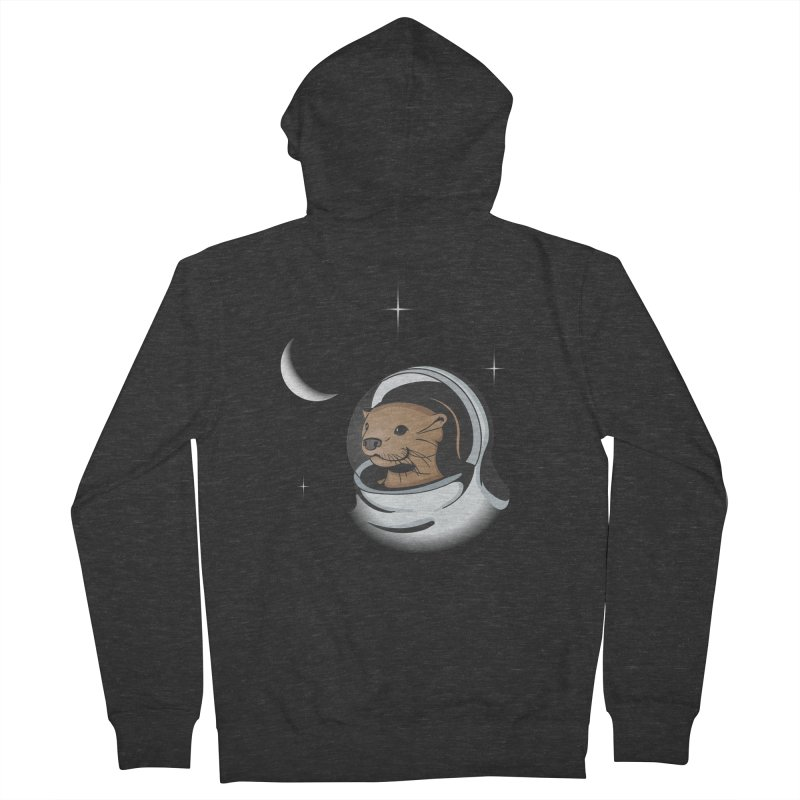 Otter Space Women's French Terry Zip-Up Hoody by BrainMatter's Artist Shop