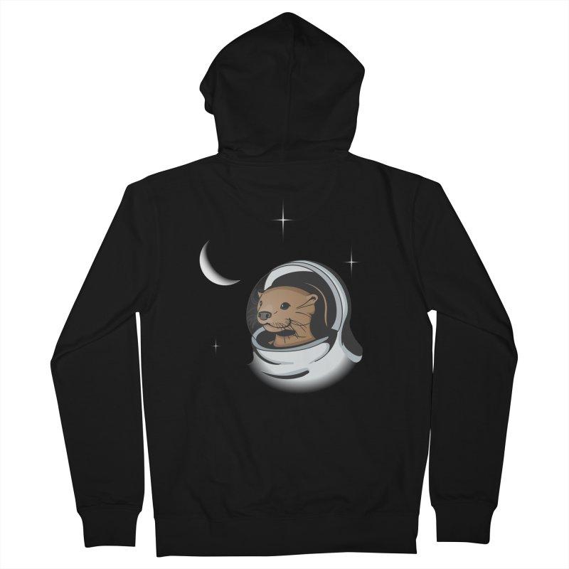 Otter Space Men's Zip-Up Hoody by BrainMatter's Artist Shop