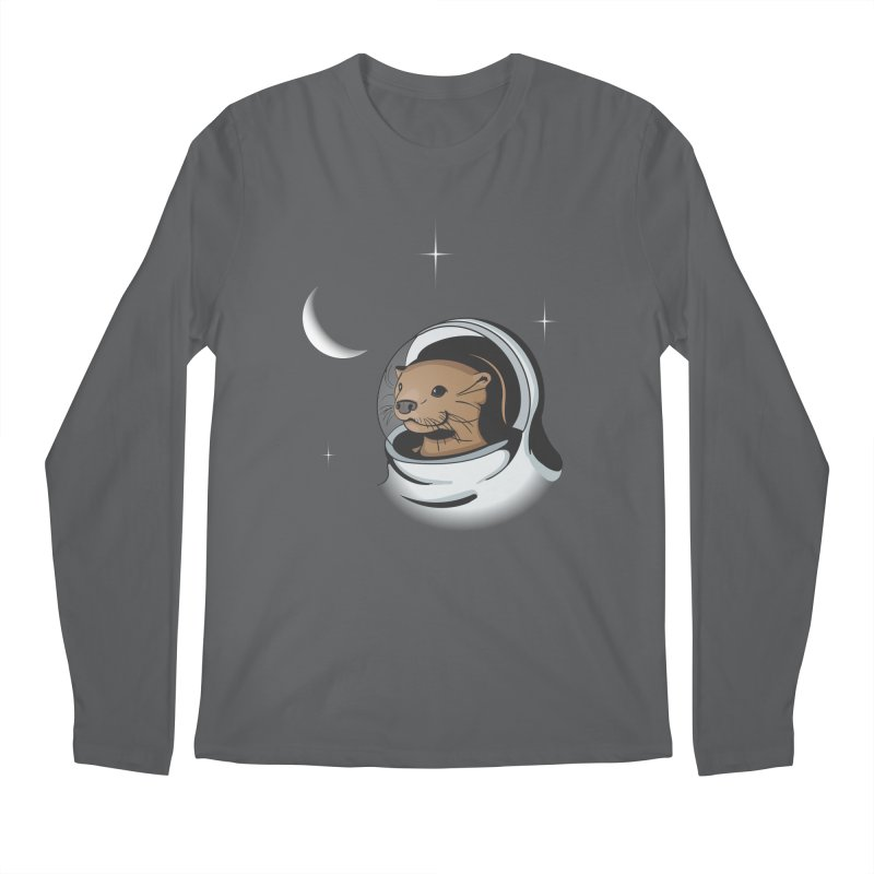 Otter Space Men's Longsleeve T-Shirt by BrainMatter's Artist Shop