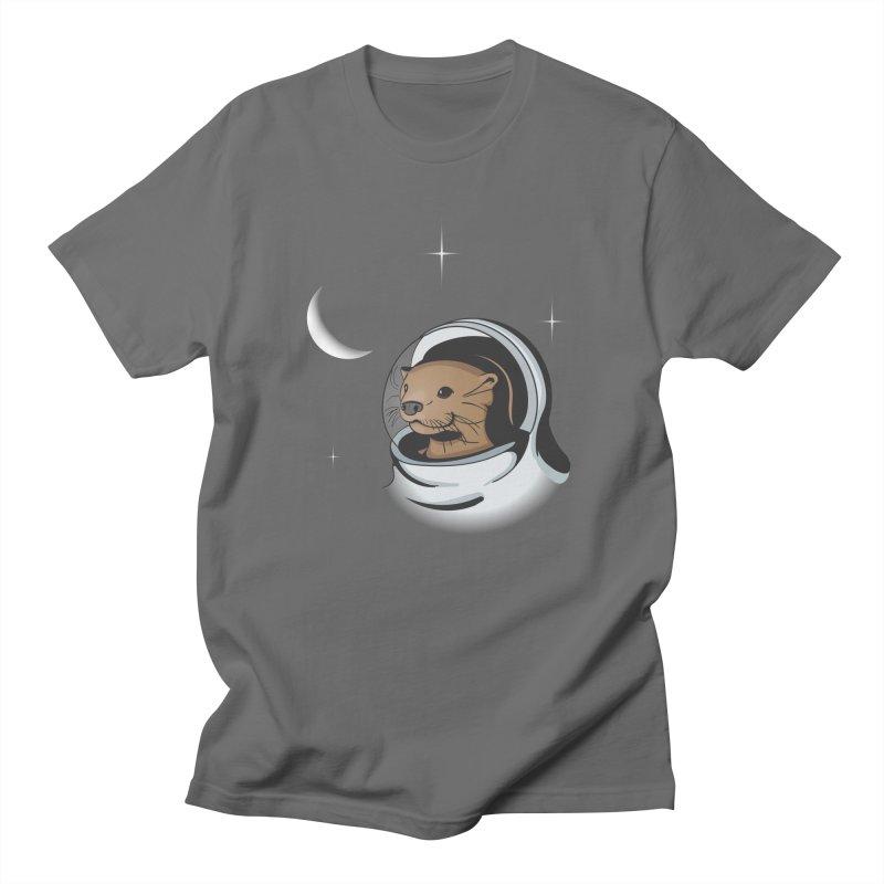Otter Space Men's T-shirt by BrainMatter's Artist Shop