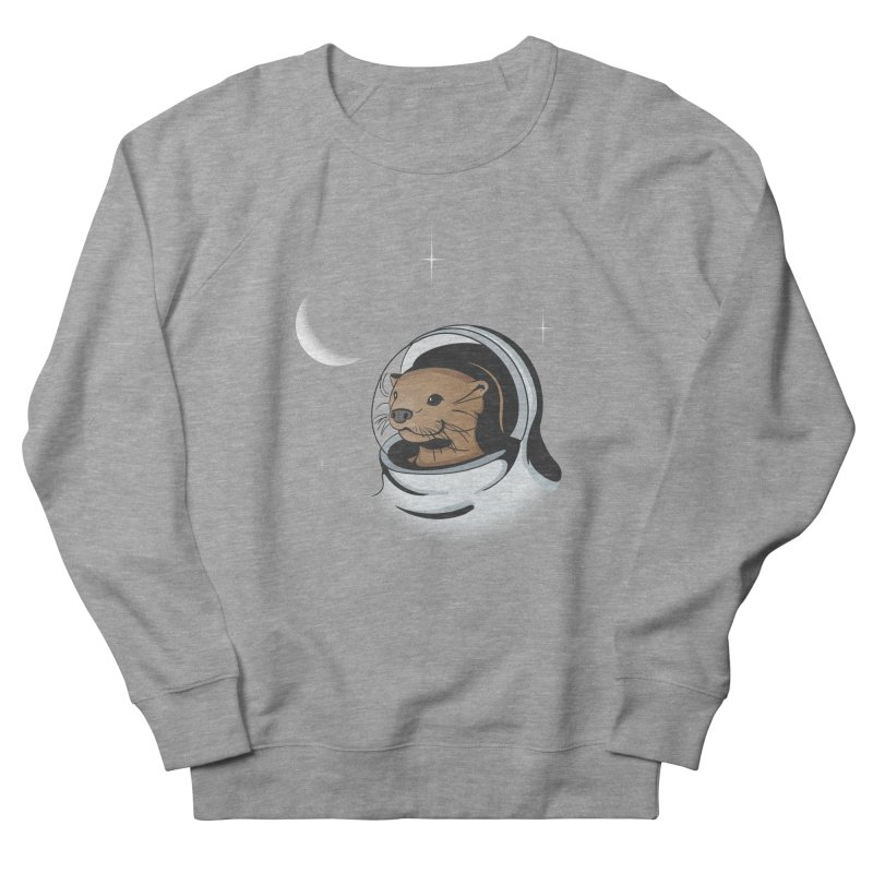 Otter Space Men's Sweatshirt by BrainMatter's Artist Shop