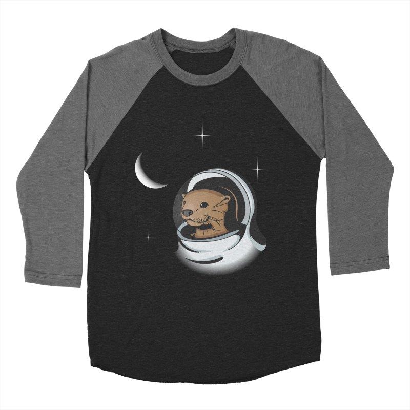Otter Space Women's Baseball Triblend T-Shirt by BrainMatter's Artist Shop