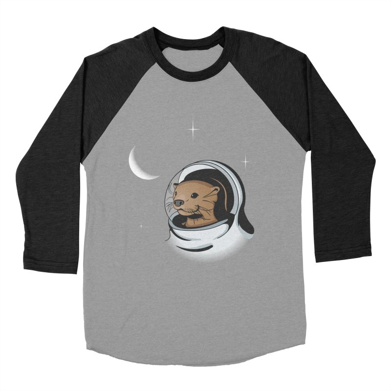 Otter Space Women's Baseball Triblend T-Shirt by BrainMatter's Artist Shop