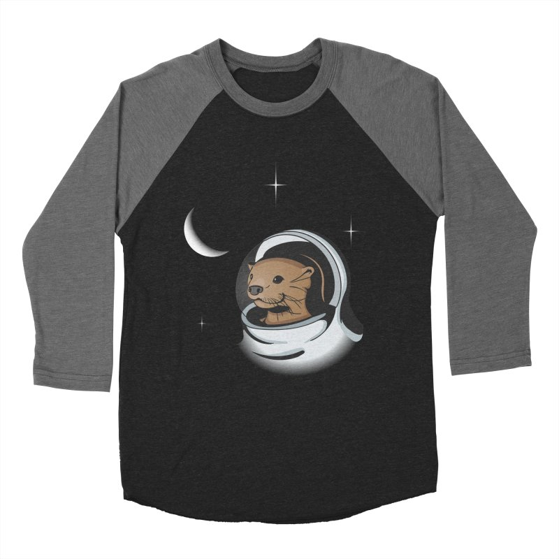 Otter Space Men's Baseball Triblend T-Shirt by BrainMatter's Artist Shop