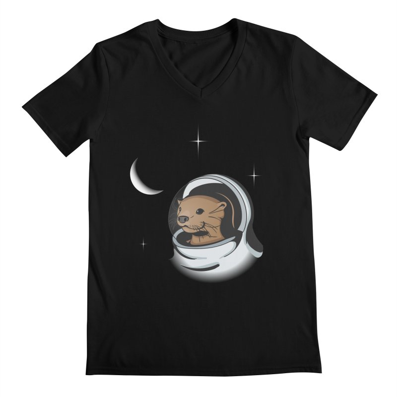 Otter Space Men's V-Neck by BrainMatter's Artist Shop
