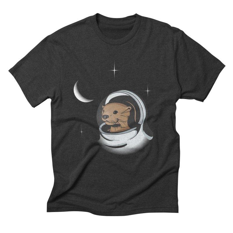 Otter Space Men's Triblend T-shirt by BrainMatter's Artist Shop