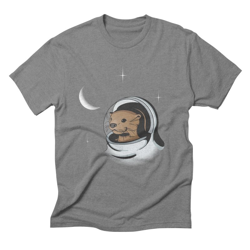 Otter Space Men's Triblend T-shirt by BrainMatter's Artist Shop